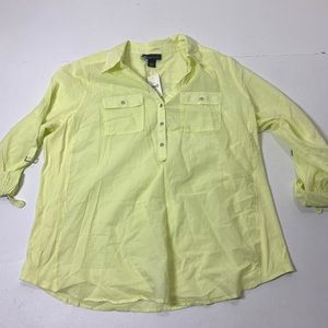 NWT Womens Size 22/24 Lane Bryant 1/4 Button Shirt